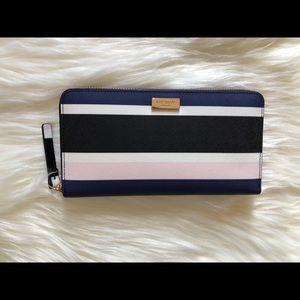 kate spade Laurel Way striped wallet